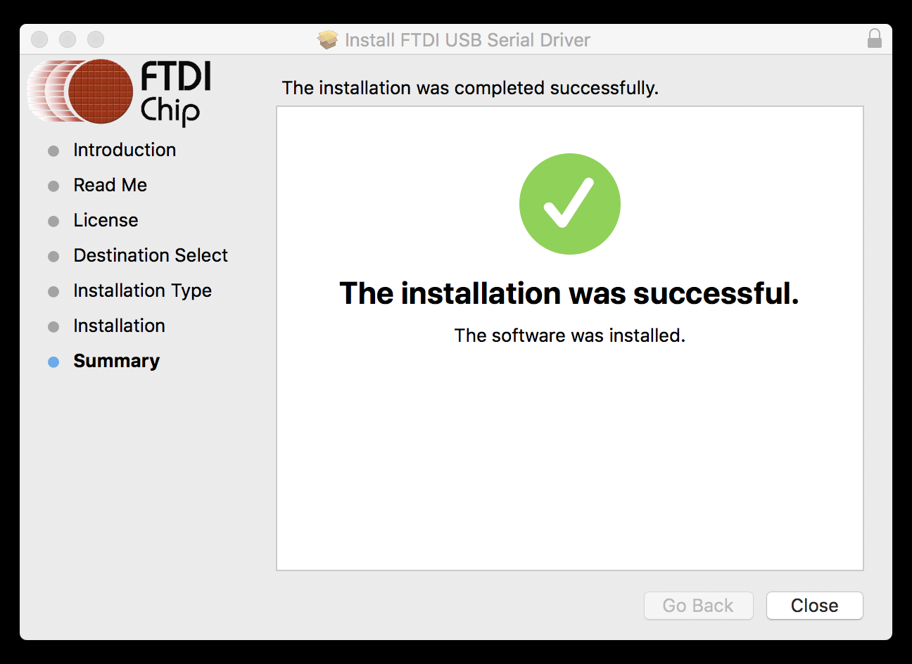 Installer Finished