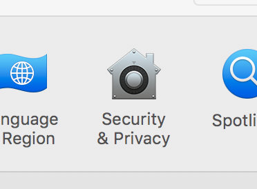 Security and privacy icon